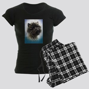 Top Winning Cairn Terrier Gir Women's Dark Pajamas