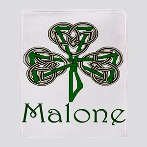 Malone Shamrock Throw Blanket