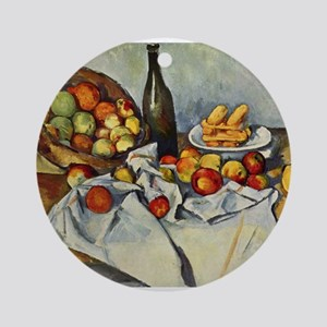 Basket of Apples Ornament (Round)