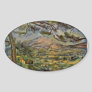 Mont Sainte Victoire Sticker (Oval)