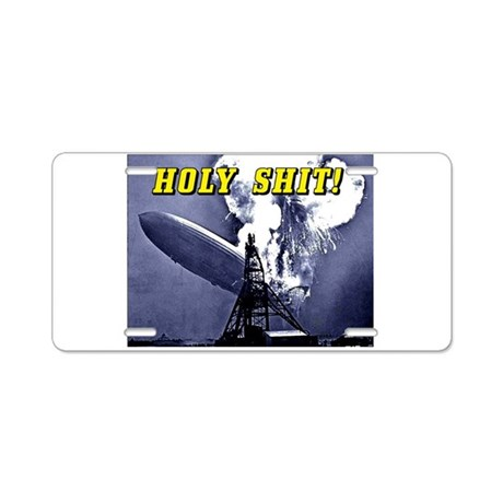 Holy Shit! Aluminum License Plate