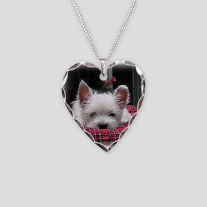 Innocent? Westie Pup Necklace Heart Charm