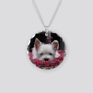 Innocent? Westie Pup Necklace Circle Charm