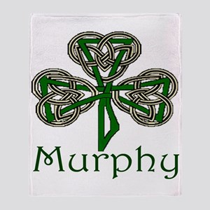 Murphy Shamrock Throw Blanket