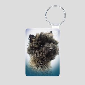 Top Winning Cairn Terrier Gir Aluminum Photo Keych