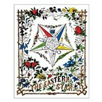 Vintage Eastern Star Signet Small Poster