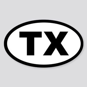 TEXAS STATE OVAL STICKERS Oval Sticker