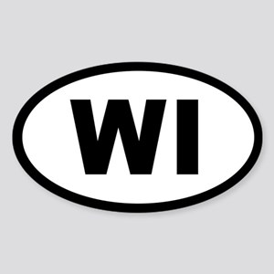 WISCONSIN STATE OVAL STICKERS Oval Sticker