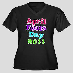 April Fool's Day 2011 Women's Plus Size V-Neck Dar