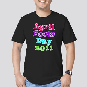 April Fool's Day 2011 Men's Fitted T-Shirt (dark)