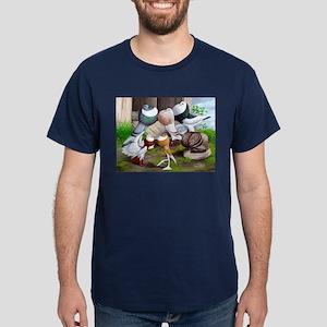 Six Pouter Pigeons Dark T-Shirt
