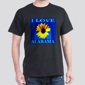I Love Alabama Black T-Shirt