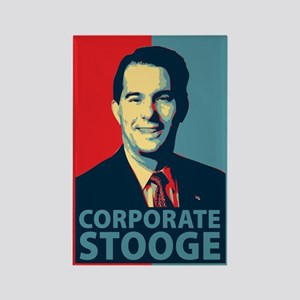Scott Walker Corporate Stooge Rectangle Magnet