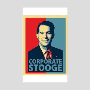 Scott Walker Corporate Stooge Sticker (Rectangle)