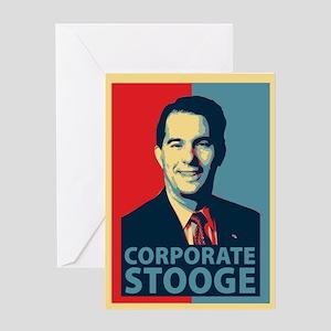 Scott Walker Corporate Stooge Greeting Card