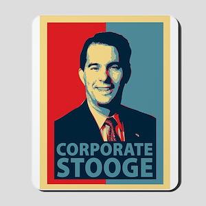 Scott Walker Corporate Stooge Mousepad