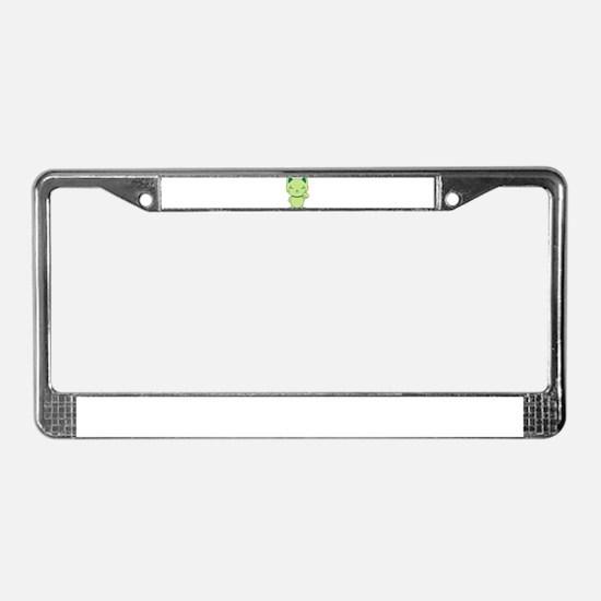 Maneki Neko - Green Lucky Cat License Plate Frame