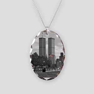 Twin Towers Necklace features American Flag