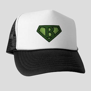Super Green B Trucker Hat