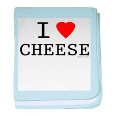 I love cheese baby blanket
