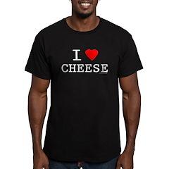 I love cheese Men's Fitted T-Shirt (dark)