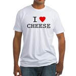 I love cheese Fitted T-Shirt