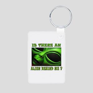 ALIEN FOR SURE Aluminum Photo Keychain