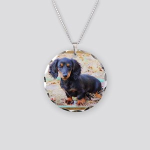 Puppy Love Doxie Necklace Circle Charm