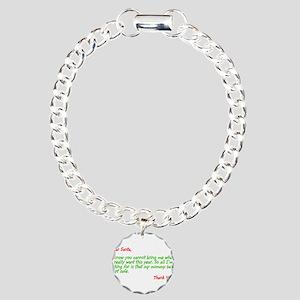 Dear Santa:Keep Mommy Safe Charm Bracelet, One Cha