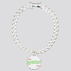 Dear Santa:Keep Daddy Safe Charm Bracelet, One Cha