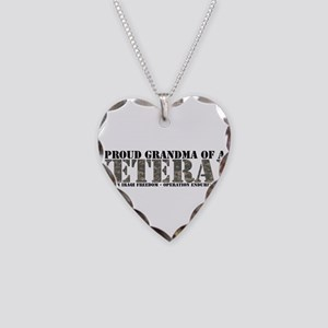 Both Wars (Iraq & Afghanistan Necklace Heart C