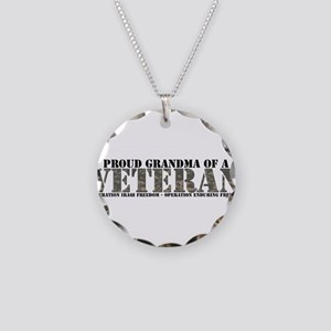 Both Wars (Iraq & Afghanistan Necklace Circle