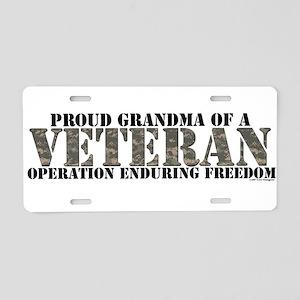 Operation Enduring Freedom (A Aluminum License Pla