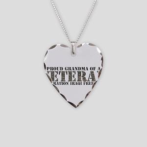 Operation Iraqi Freedom Necklace Heart Charm