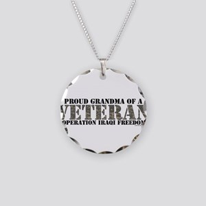 Operation Iraqi Freedom Necklace Circle Charm