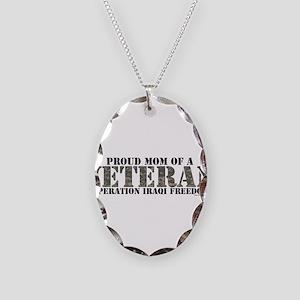 Operation Iraqi Freedom Necklace Oval Charm