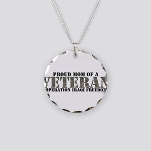 Operation Iraqi Freedom Necklace Circle Charm