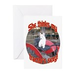She thinks my tractors Sexy! Cards (Pk of 10)