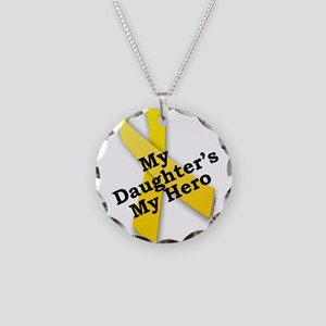 My Daughter's My Hero Necklace Circle Charm