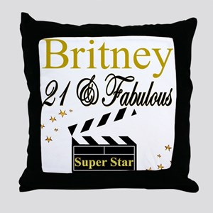 DAZZLING 21ST Throw Pillow