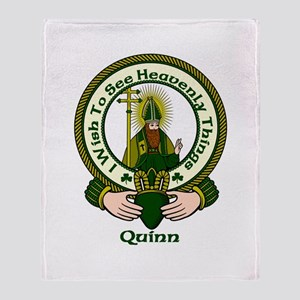 Quinn Clan Motto Throw Blanket