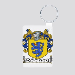 Rooney Coat of Arms Aluminum Photo Keychain