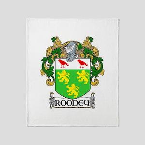 Rooney Coat of Arms Throw Blanket