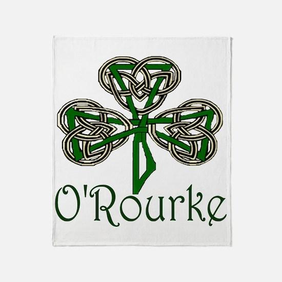 O'Rourke Shamrock Throw Blanket