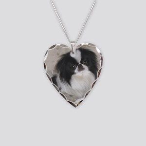 Deluxe Japanese Chin Darling Necklace Heart Charm