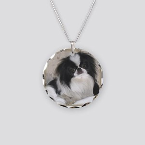 Deluxe Japanese Chin Darling Necklace Circle Charm