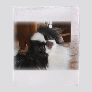 "Japanese Chin ""Palm Pilot"" Throw Blanket"
