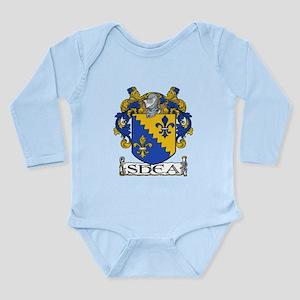 Shea Coat of Arms Long Sleeve Infant Bodysuit