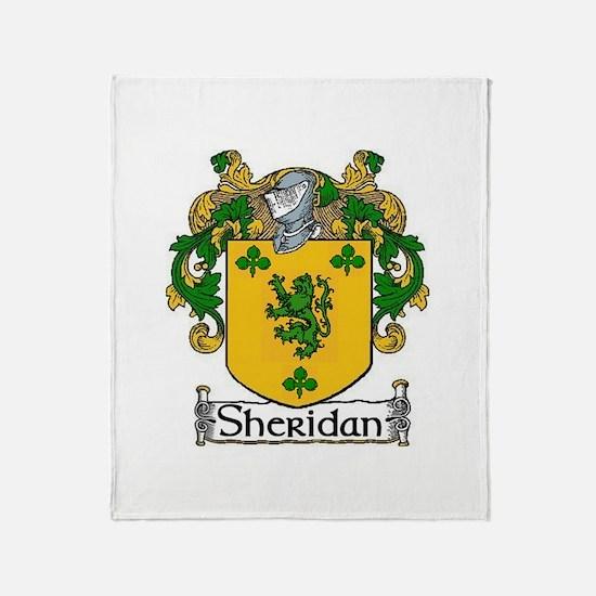 Sheridan Coat of Arms Throw Blanket