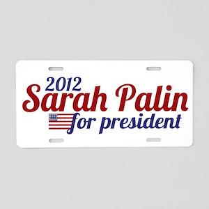 Sarah Palin 2012 Aluminum License Plate